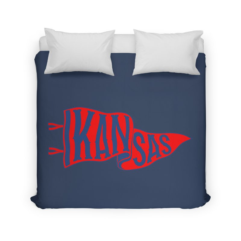 Kansas Pennant Home Duvet by redleggerstudio's Shop