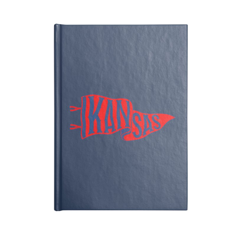 Kansas Pennant Accessories Lined Journal Notebook by redleggerstudio's Shop