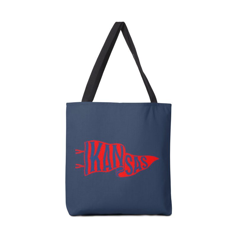 Kansas Pennant Accessories Tote Bag Bag by redleggerstudio's Shop