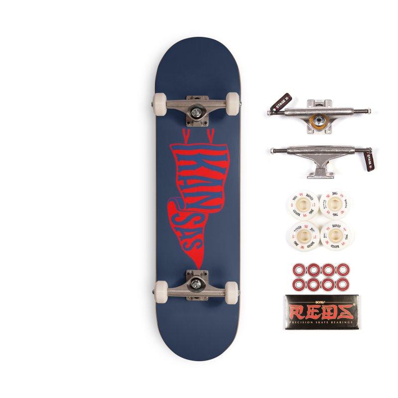 Kansas Pennant Accessories Complete - Pro Skateboard by redleggerstudio's Shop