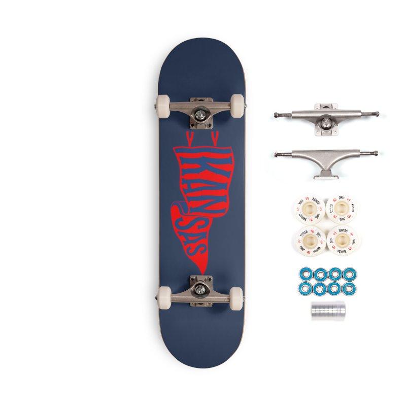 Kansas Pennant Accessories Complete - Premium Skateboard by redleggerstudio's Shop