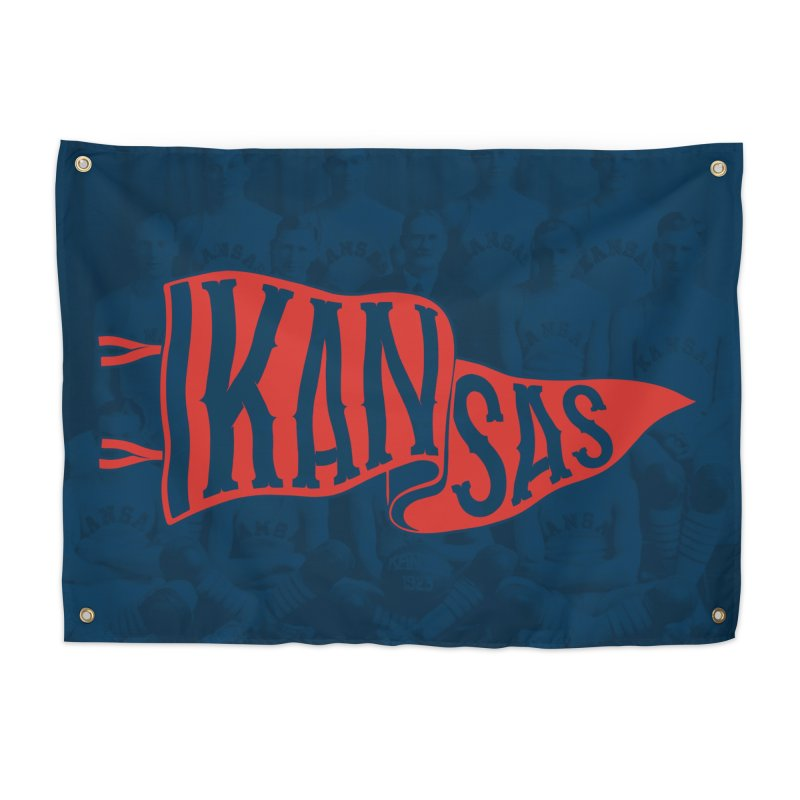Kansas Pennant Home Tapestry by redleggerstudio's Shop