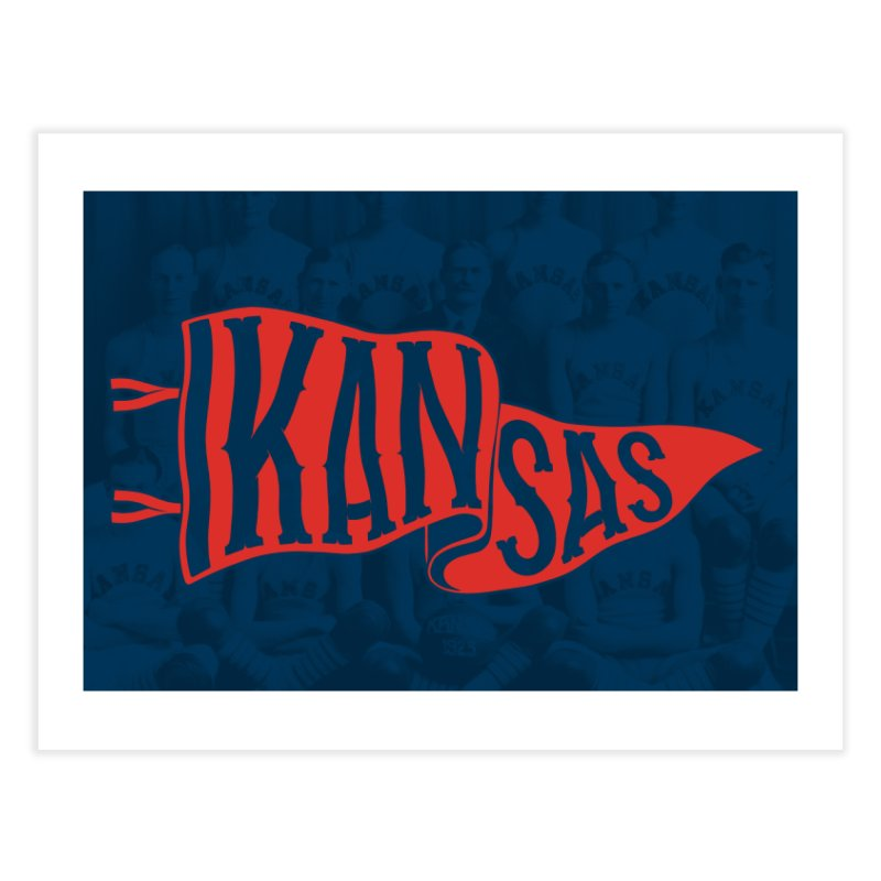 Kansas Pennant Home Fine Art Print by redleggerstudio's Shop