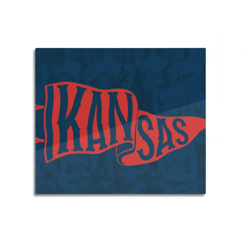 Kansas Pennant Home Mounted Acrylic Print by redleggerstudio's Shop
