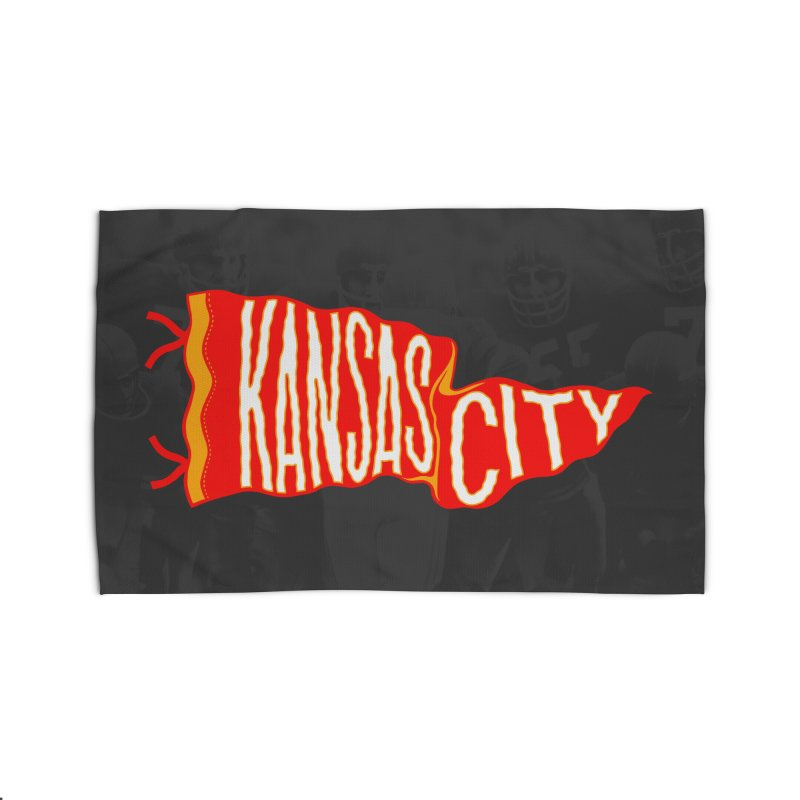 Kansas City Pennant No. 2 Home Rug by redleggerstudio's Shop