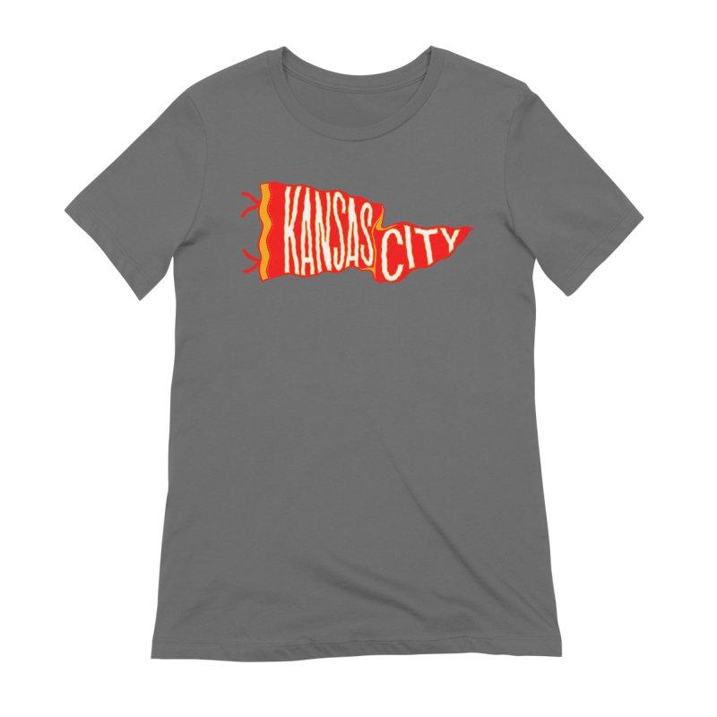 Kansas City Pennant No. 2 Women's Extra Soft T-Shirt by redleggerstudio's Shop