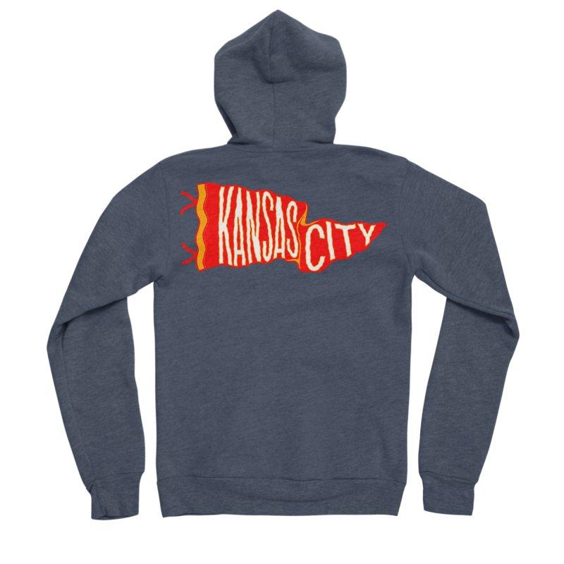 Kansas City Pennant No. 2 Men's Sponge Fleece Zip-Up Hoody by redleggerstudio's Shop