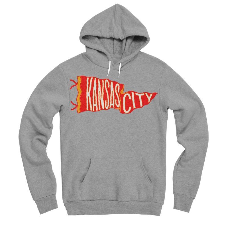 Kansas City Pennant No. 2 Men's Sponge Fleece Pullover Hoody by redleggerstudio's Shop