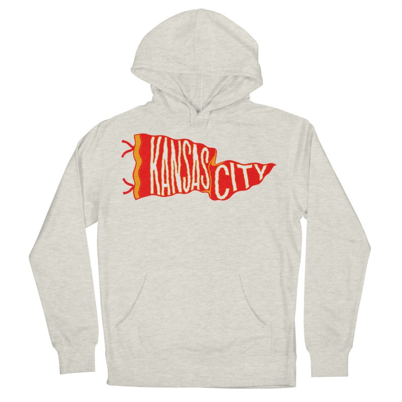 Kansas City Pennant No. 2 Women's French Terry Pullover Hoody by redleggerstudio's Shop
