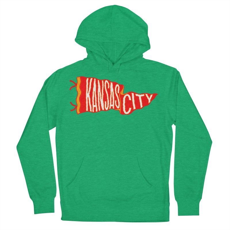 Kansas City Pennant No. 2 Men's French Terry Pullover Hoody by redleggerstudio's Shop
