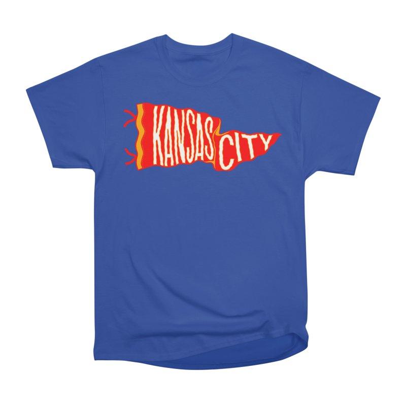 Kansas City Pennant No. 2 Men's Heavyweight T-Shirt by redleggerstudio's Shop
