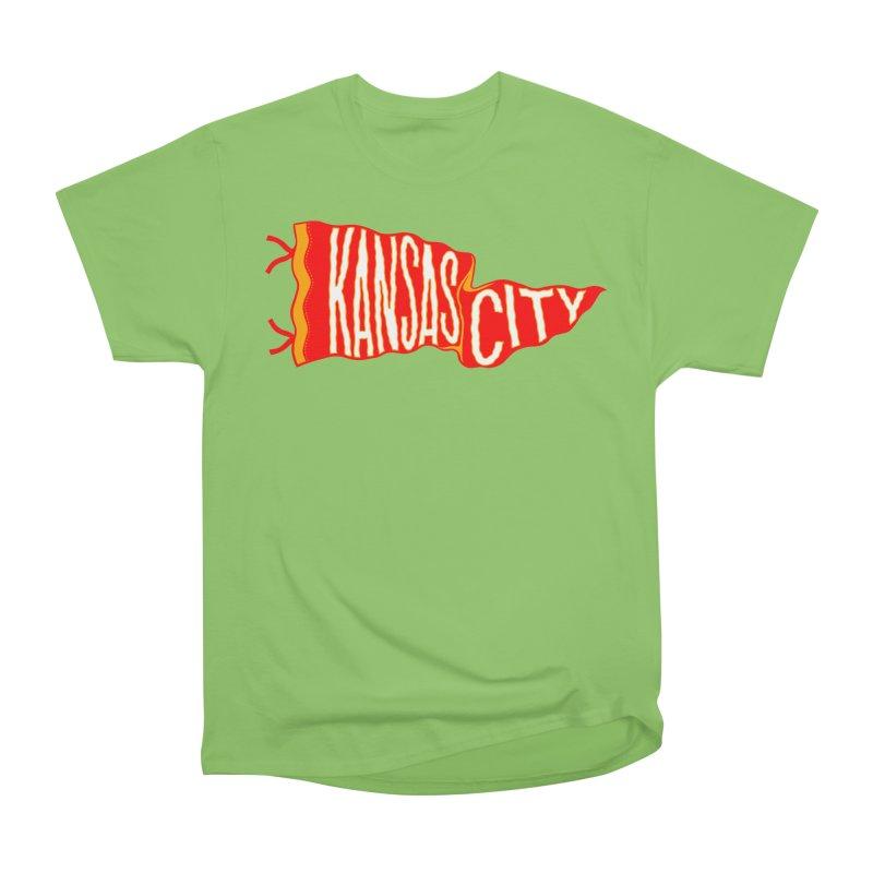 Kansas City Pennant No. 2 Women's Heavyweight Unisex T-Shirt by redleggerstudio's Shop