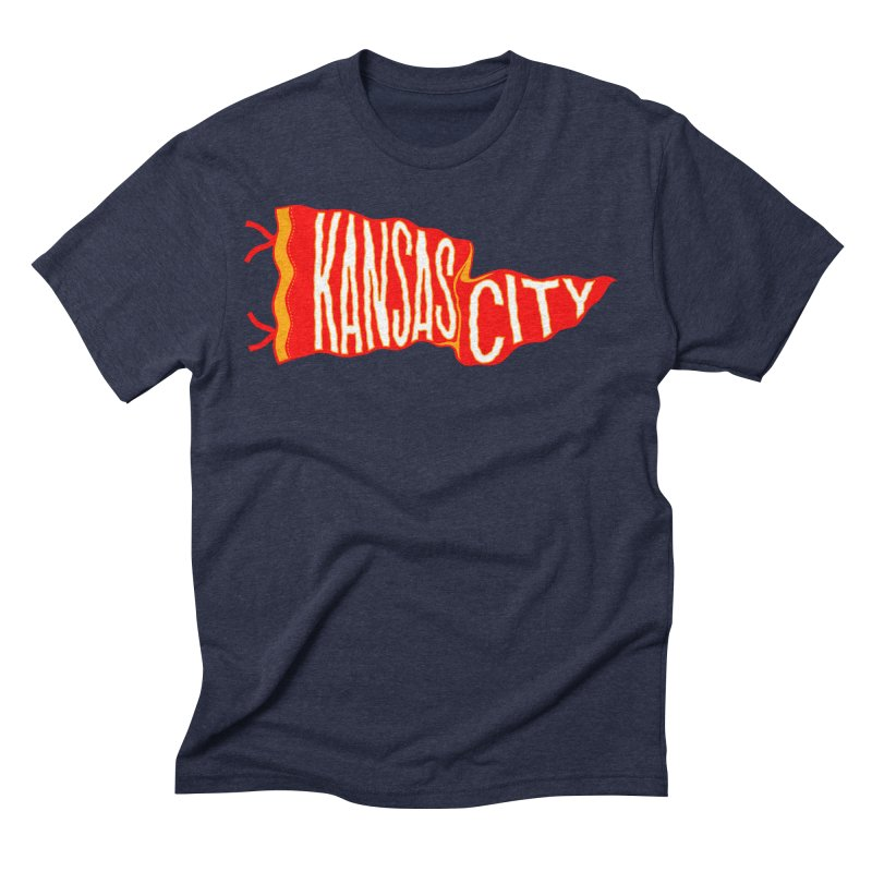 Kansas City Pennant No. 2 Men's Triblend T-Shirt by redleggerstudio's Shop