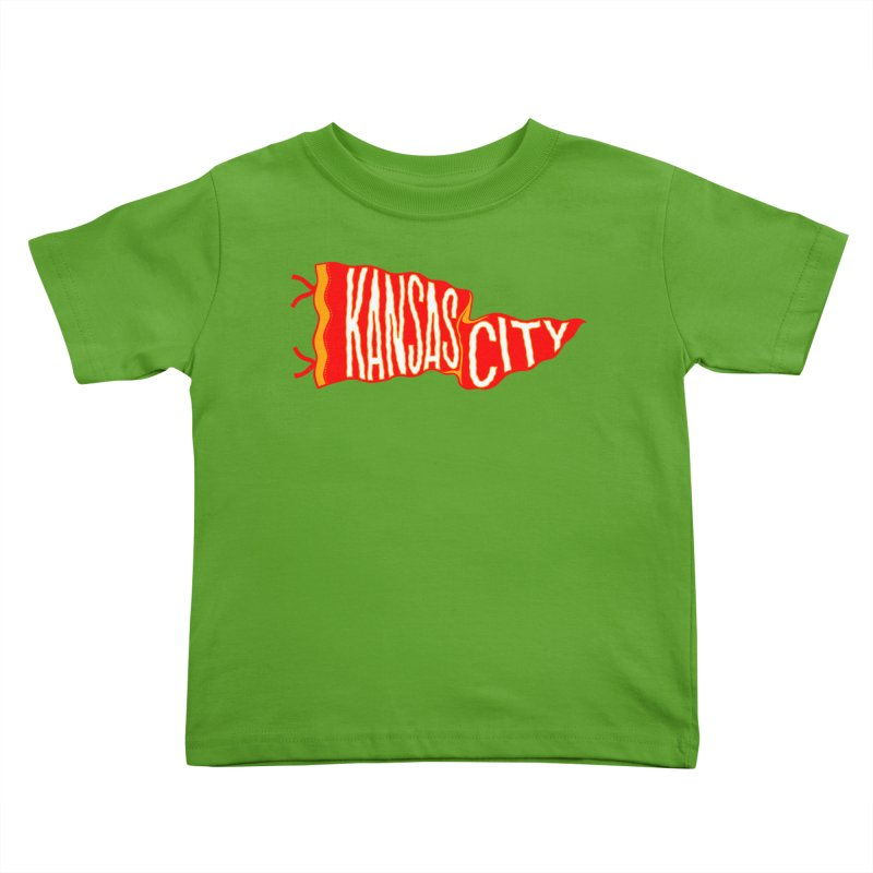 Kansas City Pennant No. 2 Kids Toddler T-Shirt by redleggerstudio's Shop
