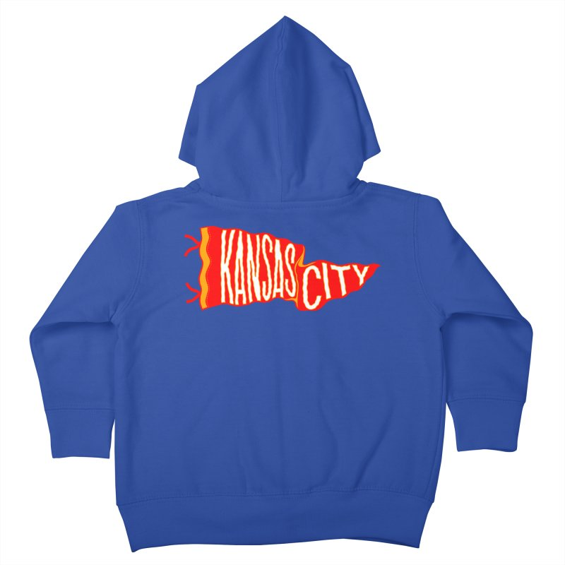 Kansas City Pennant No. 2 Kids Toddler Zip-Up Hoody by redleggerstudio's Shop