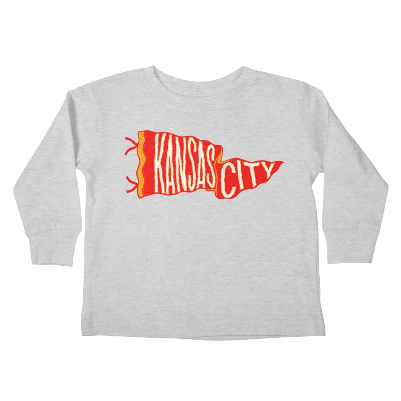 Kansas City Pennant No. 2 Kids Toddler Longsleeve T-Shirt by redleggerstudio's Shop