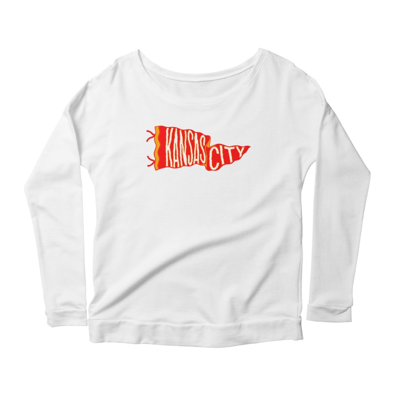 Kansas City Pennant No. 2 Women's Scoop Neck Longsleeve T-Shirt by redleggerstudio's Shop