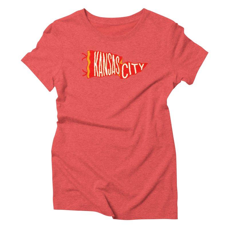 Kansas City Pennant No. 2 Women's Triblend T-Shirt by redleggerstudio's Shop