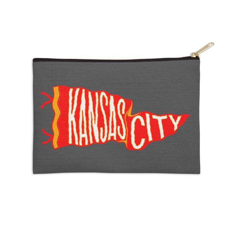 Kansas City Pennant No. 2 Accessories Zip Pouch by redleggerstudio's Shop