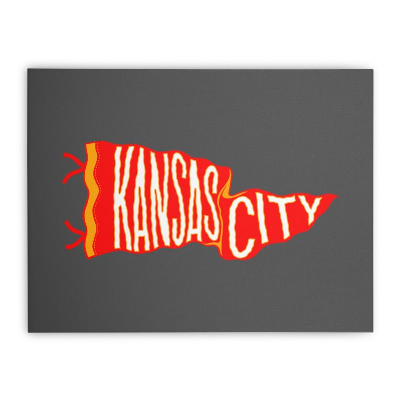 Kansas City Pennant No. 2 Home Stretched Canvas by redleggerstudio's Shop