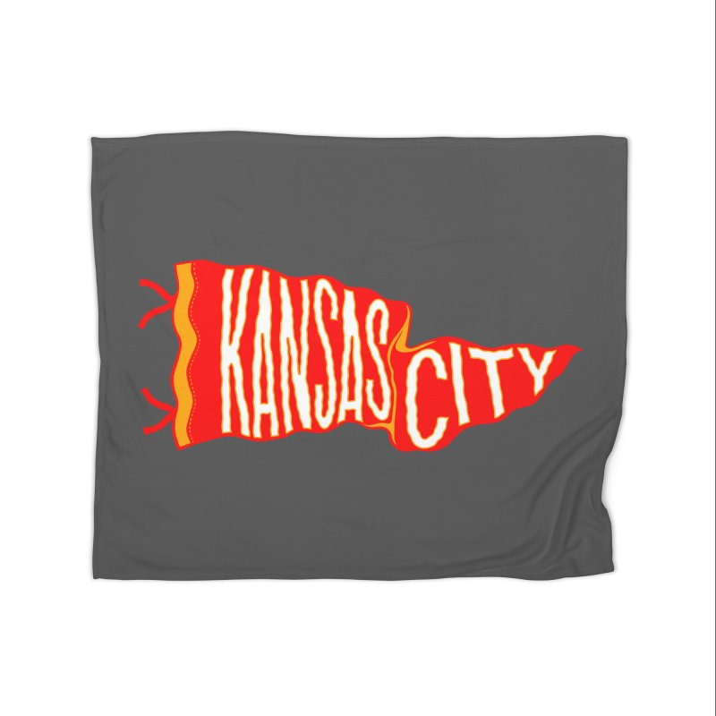 Kansas City Pennant No. 2 Home Fleece Blanket Blanket by redleggerstudio's Shop