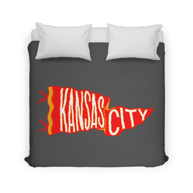 Kansas City Pennant No. 2 Home Duvet by redleggerstudio's Shop