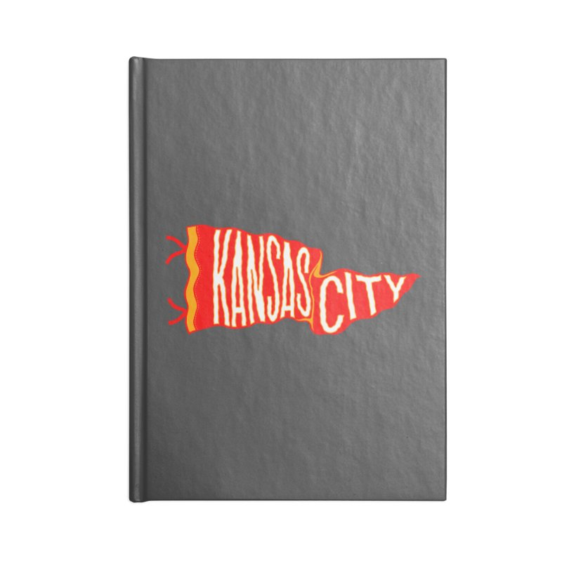 Kansas City Pennant No. 2 Accessories Lined Journal Notebook by redleggerstudio's Shop