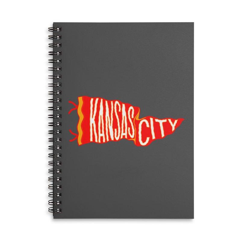 Kansas City Pennant No. 2 Accessories Lined Spiral Notebook by redleggerstudio's Shop