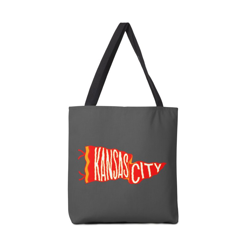 Kansas City Pennant No. 2 Accessories Tote Bag Bag by redleggerstudio's Shop