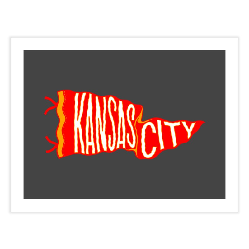 Kansas City Pennant No. 2 Home Fine Art Print by redleggerstudio's Shop