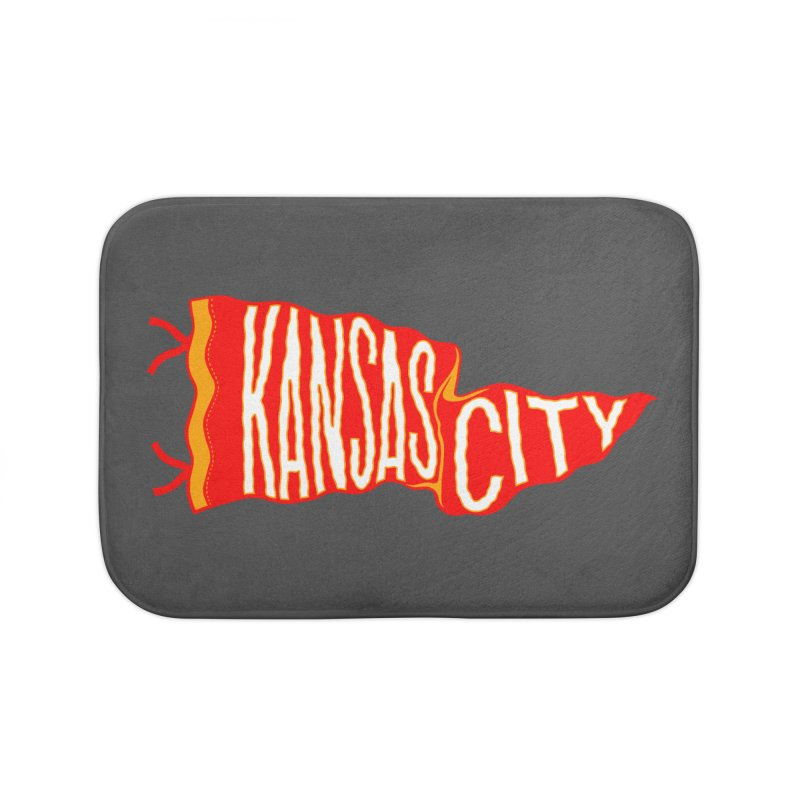 Kansas City Pennant No. 2 Home Bath Mat by redleggerstudio's Shop