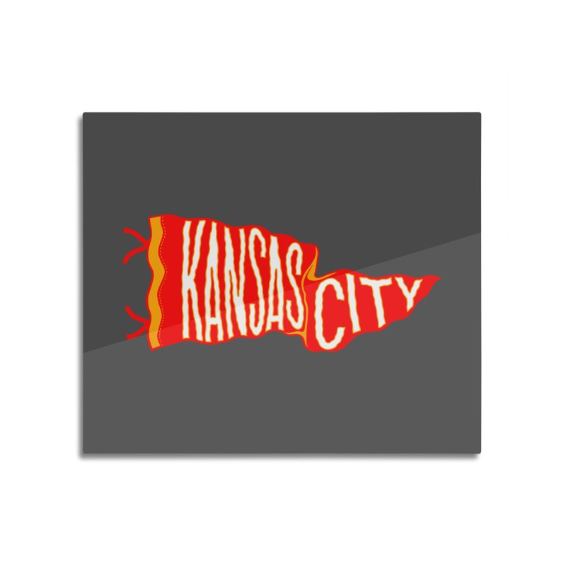 Kansas City Pennant No. 2 Home Mounted Acrylic Print by redleggerstudio's Shop