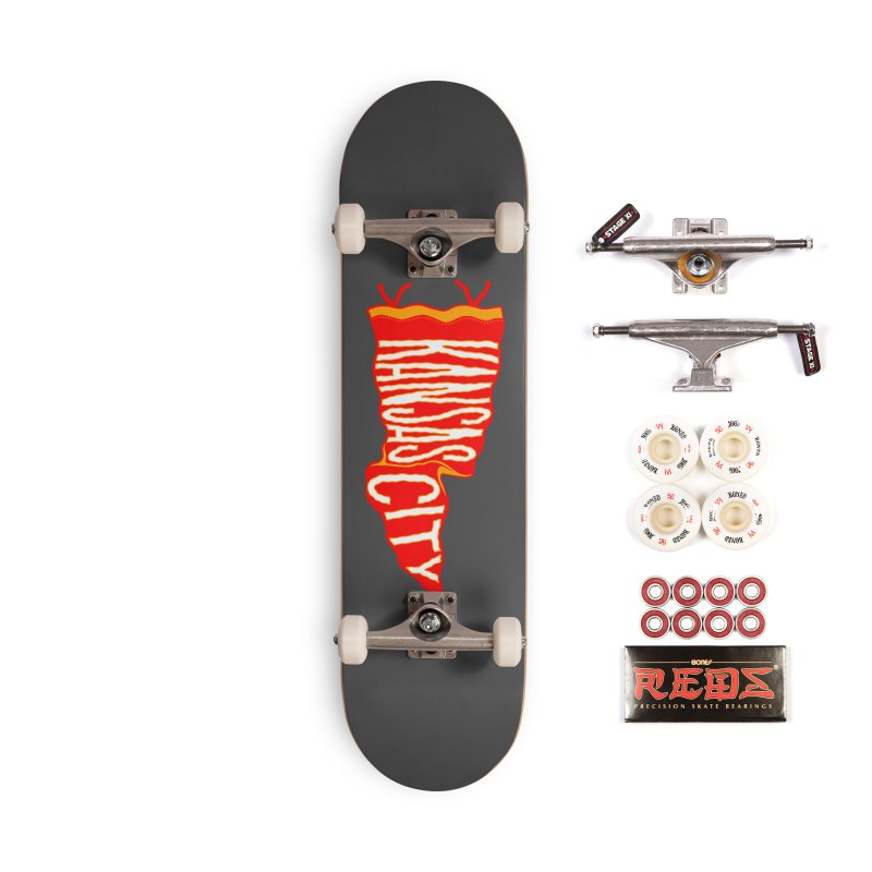 Kansas City Pennant No. 2 Accessories Complete - Pro Skateboard by redleggerstudio's Shop