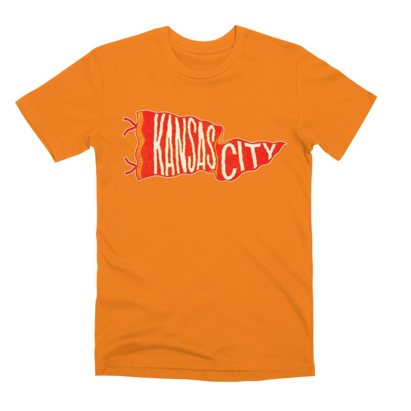 Kansas City Pennant No. 2 Men's T-Shirt by redleggerstudio's Shop