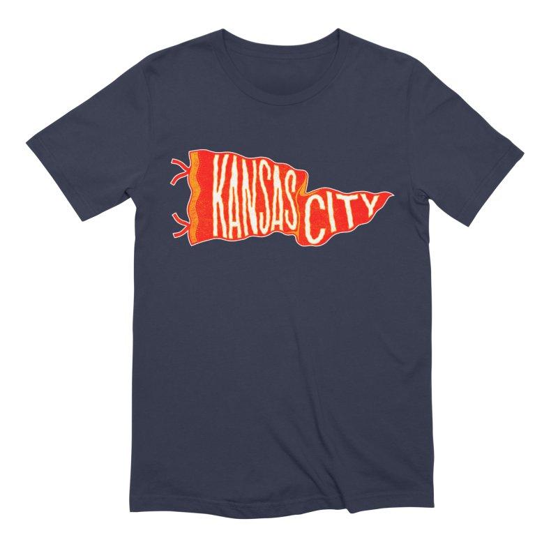 Kansas City Pennant No. 2 Men's Extra Soft T-Shirt by redleggerstudio's Shop