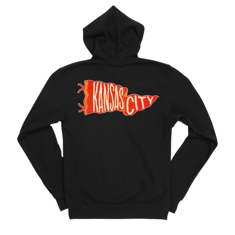 Kansas City Pennant No. 2 Men's Sponge Fleece Zip-Up Hoody by redleggerstudio's Shop