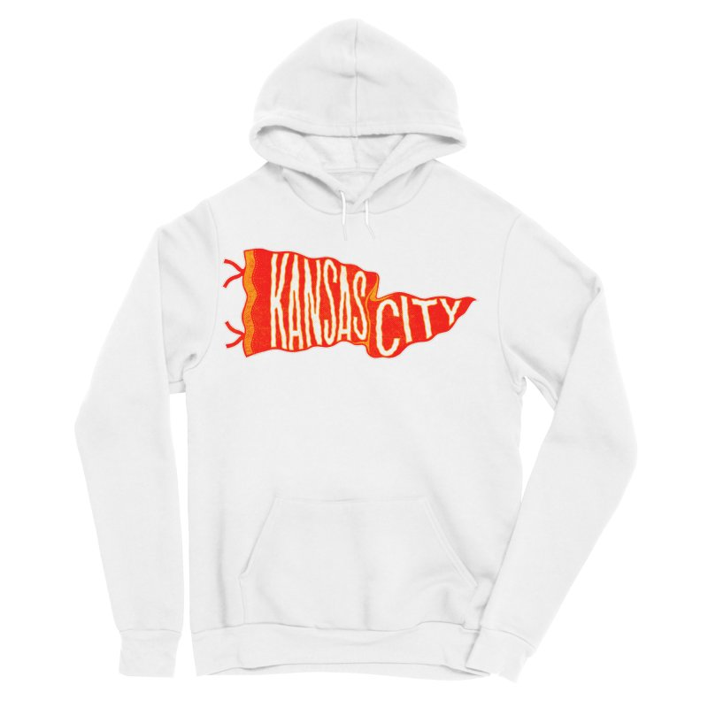 Kansas City Pennant No. 2 Men's Sponge Fleece Pullover Hoody by redleggerstudio's Shop