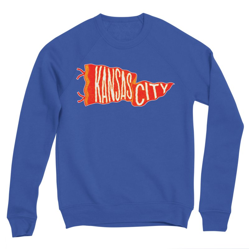 Kansas City Pennant No. 2 Women's Sponge Fleece Sweatshirt by redleggerstudio's Shop