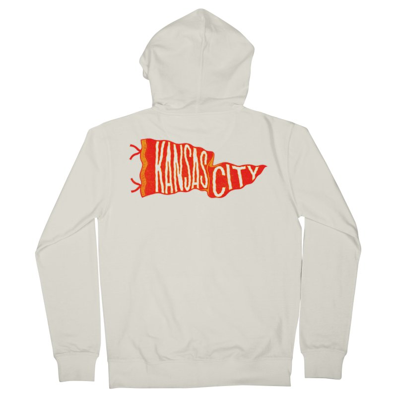 Kansas City Pennant No. 2 Women's French Terry Zip-Up Hoody by redleggerstudio's Shop