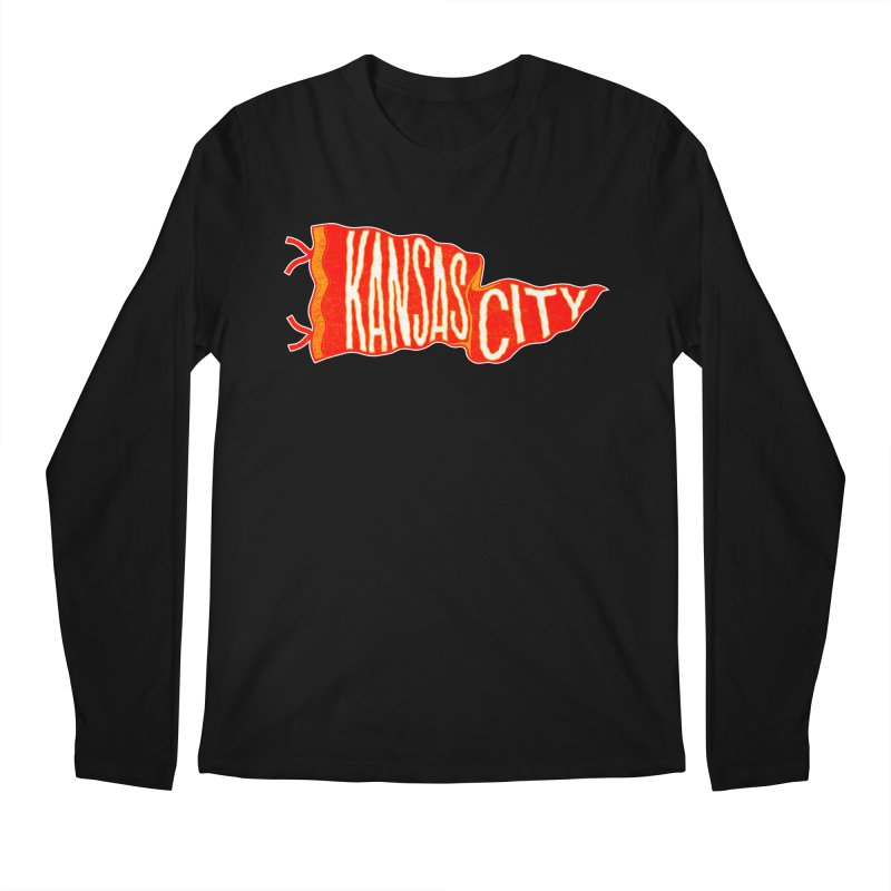 Kansas City Pennant No. 2 Men's Regular Longsleeve T-Shirt by redleggerstudio's Shop
