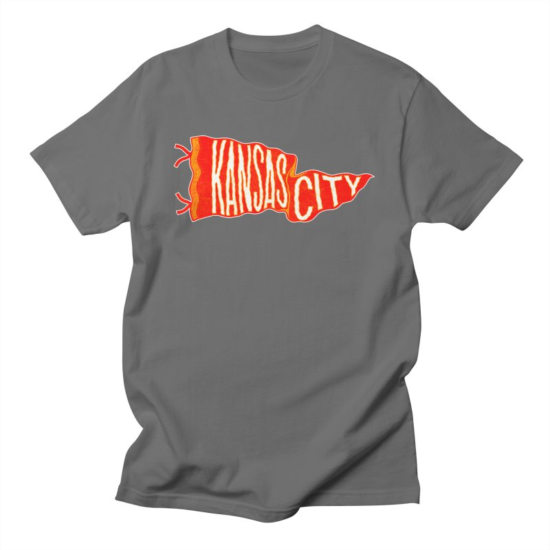 Kansas City Pennant No. 2 Men's T-Shirt by redleggerstudio's Shop