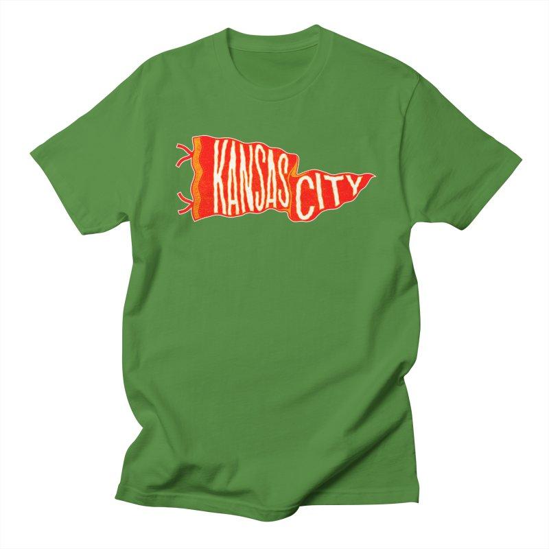 Kansas City Pennant No. 2 Men's Regular T-Shirt by redleggerstudio's Shop