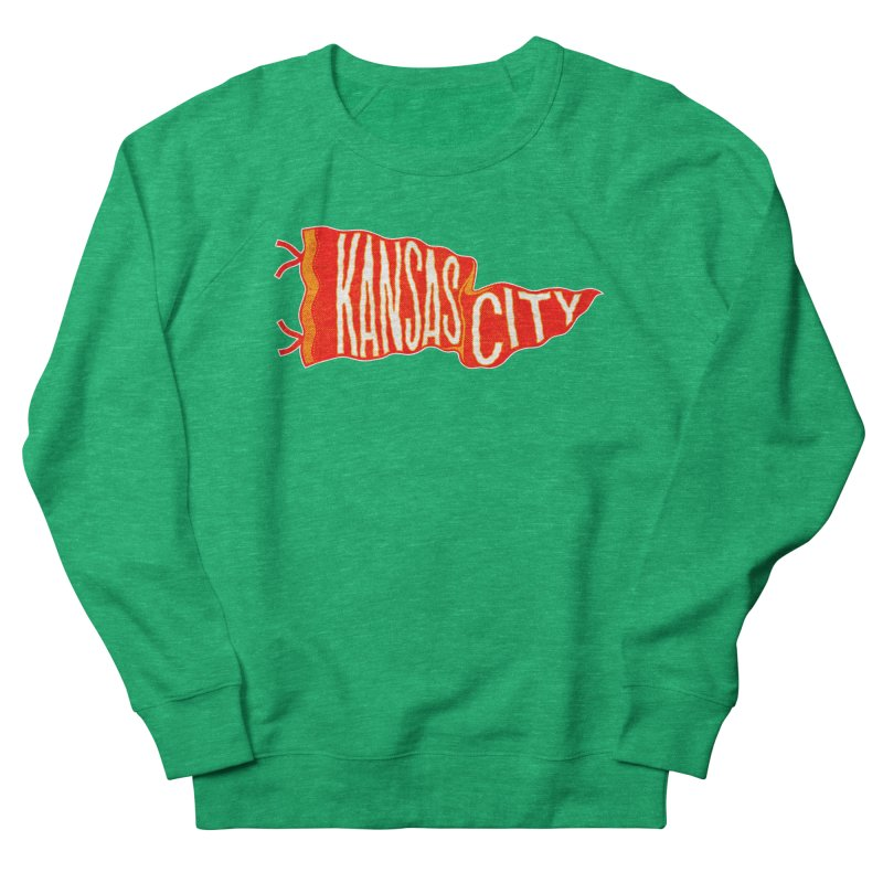 Kansas City Pennant No. 2 Men's French Terry Sweatshirt by redleggerstudio's Shop