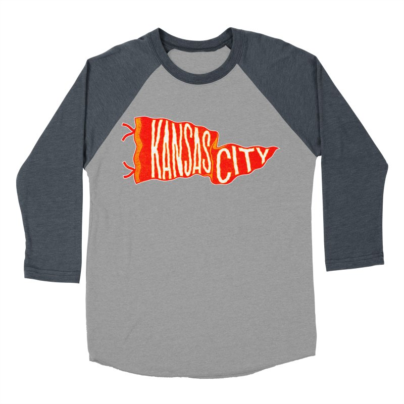 Kansas City Pennant No. 2 Women's Baseball Triblend Longsleeve T-Shirt by redleggerstudio's Shop