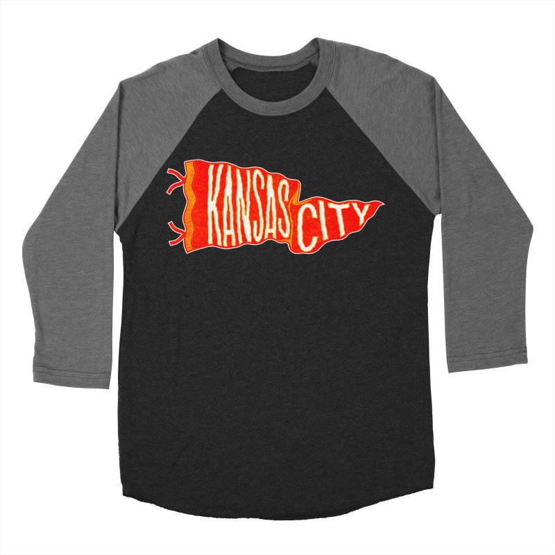 Kansas City Pennant No. 2 Men's Baseball Triblend Longsleeve T-Shirt by redleggerstudio's Shop