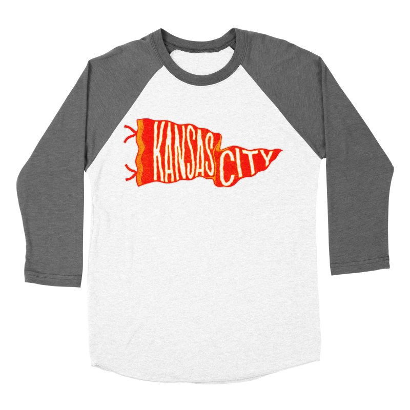 Kansas City Pennant No. 2 Men's Baseball Triblend Longsleeve T-Shirt by redleggerstudio's Shop