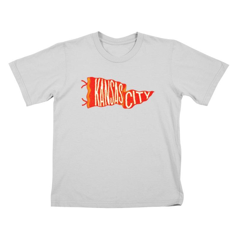 Kansas City Pennant No. 2 Kids T-Shirt by redleggerstudio's Shop