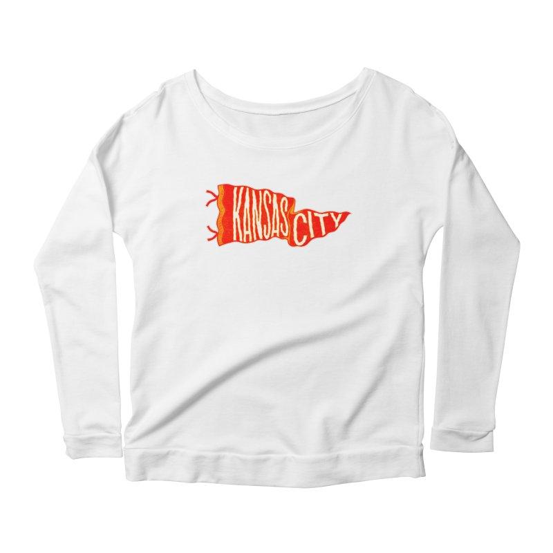 Kansas City Pennant No. 2 Women's Scoop Neck Longsleeve T-Shirt by redleggerstudio's Shop