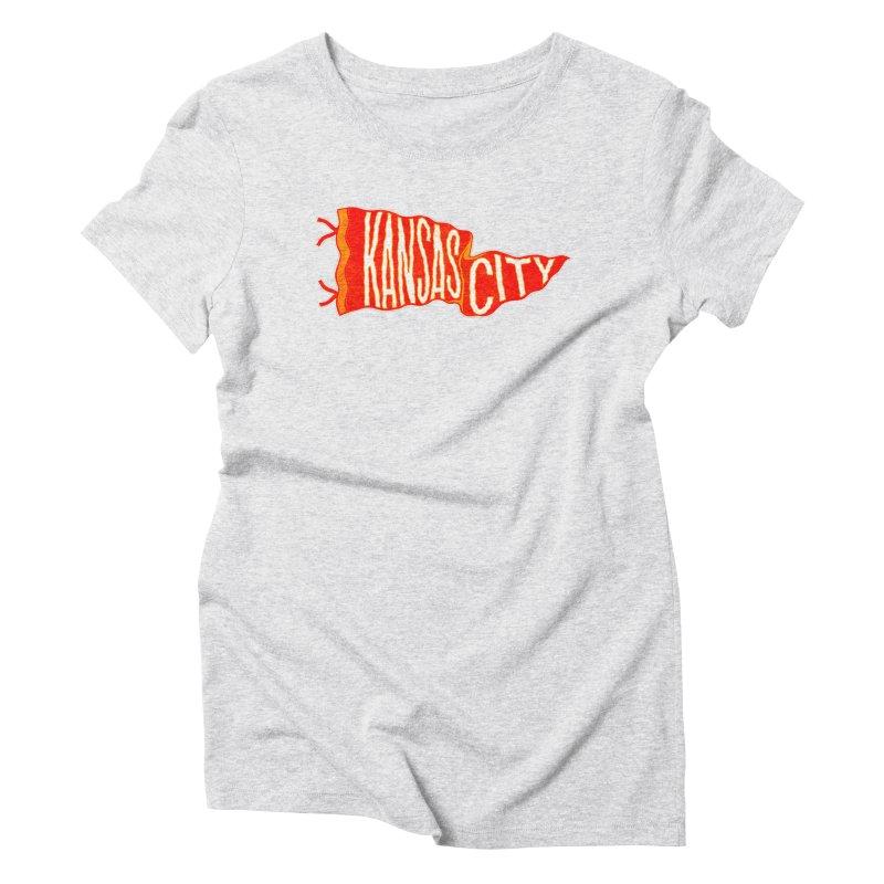Kansas City Pennant No. 2 Women's T-Shirt by redleggerstudio's Shop
