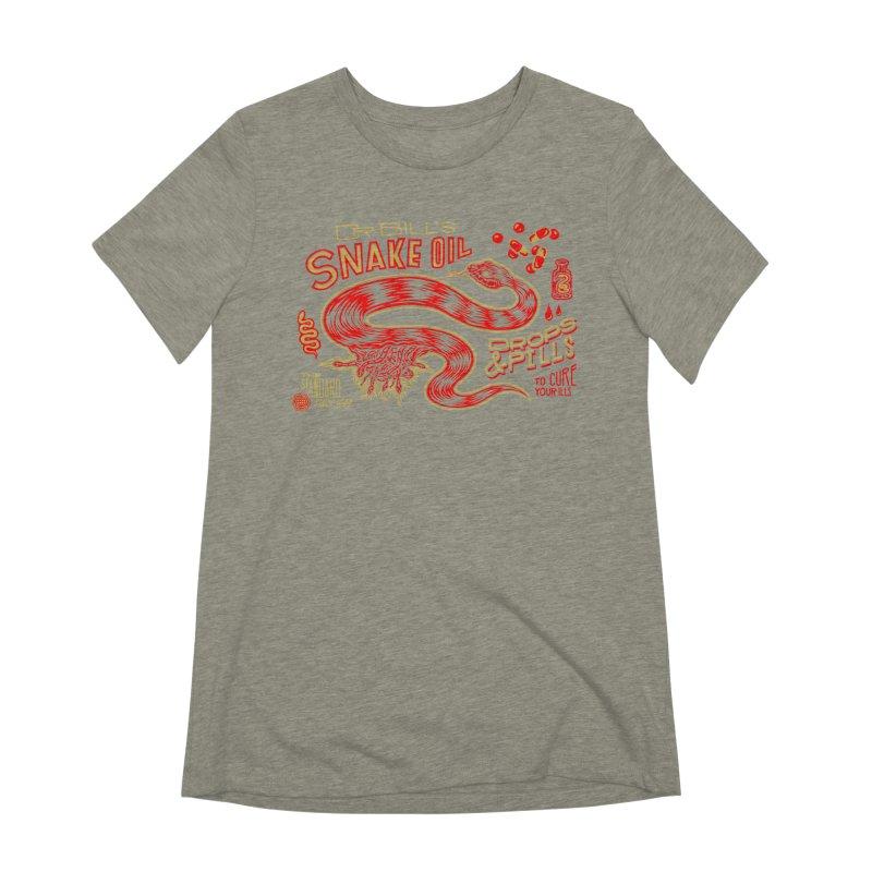 Snake Oil No. 2 Women's Extra Soft T-Shirt by redleggerstudio's Shop
